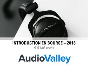 l'entreprise AudioValley entre en bourse en 2018