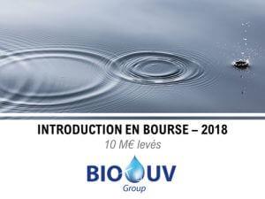 Le Groupe BioUv marque son entrée en bourse en 2018