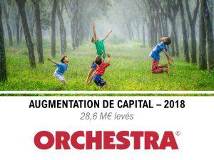 Augmentation capital Orchestra en 2018 avec 28.6M d'euro
