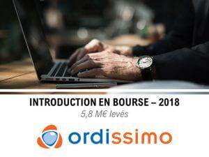 Introduction en bourse de l'entreprise Ordissimo en 2018