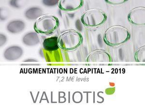 Accompagnement de Valbiotis dans son augmentation de capital en 2019