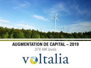 Augmentation du capital de Voltalia en 2019